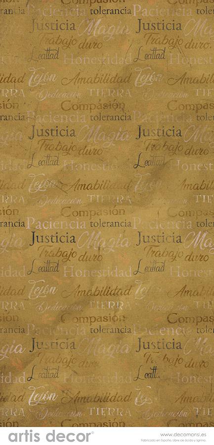 Justicia, amabilidad, magia, tierrra