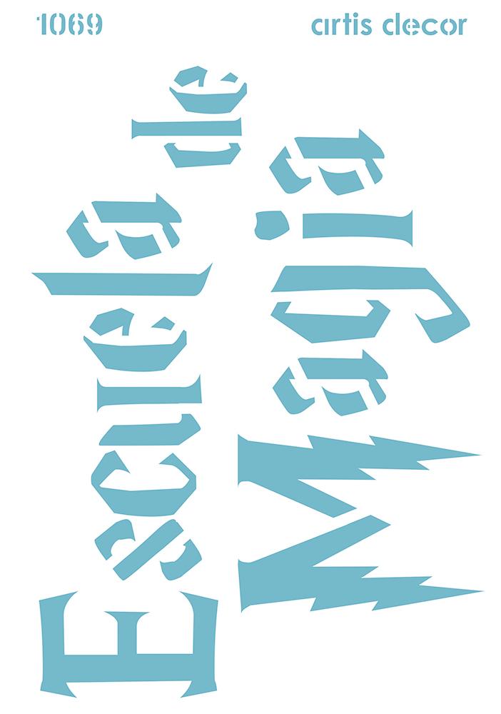 Plantilla letrero escuela de magia