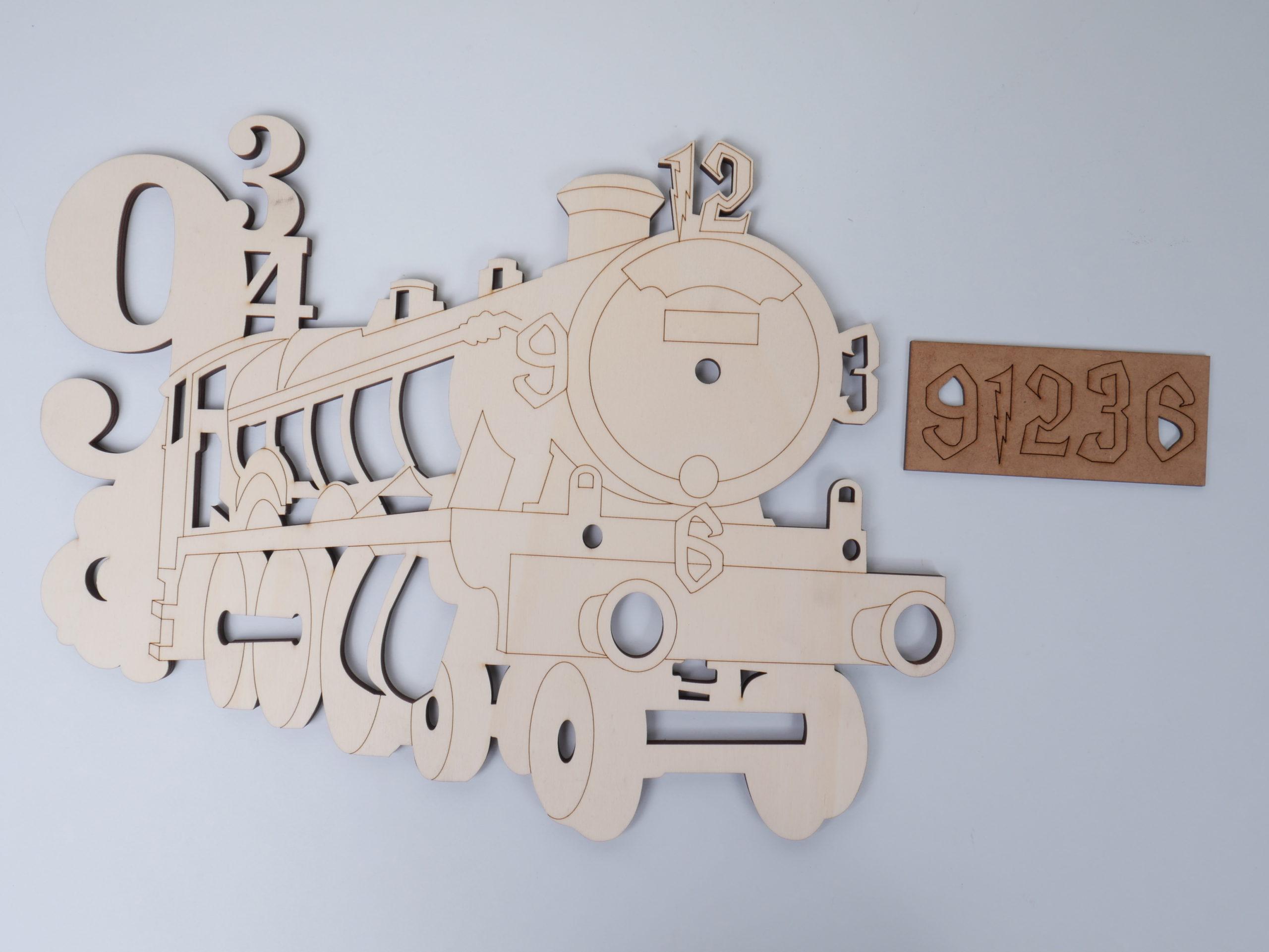 Locomotora antigua reloj