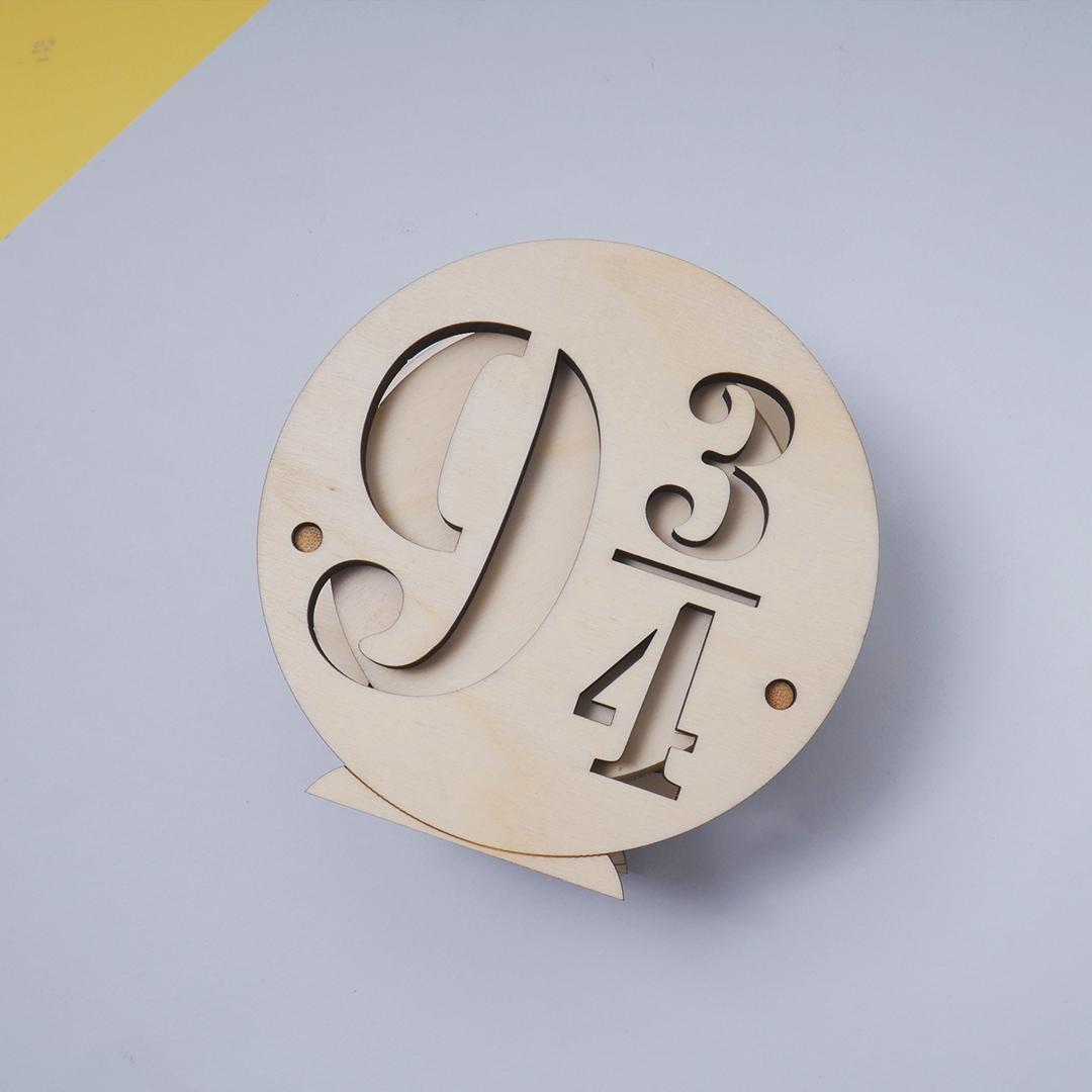 Pieza de madera de la colección inspirada en Harry Potter