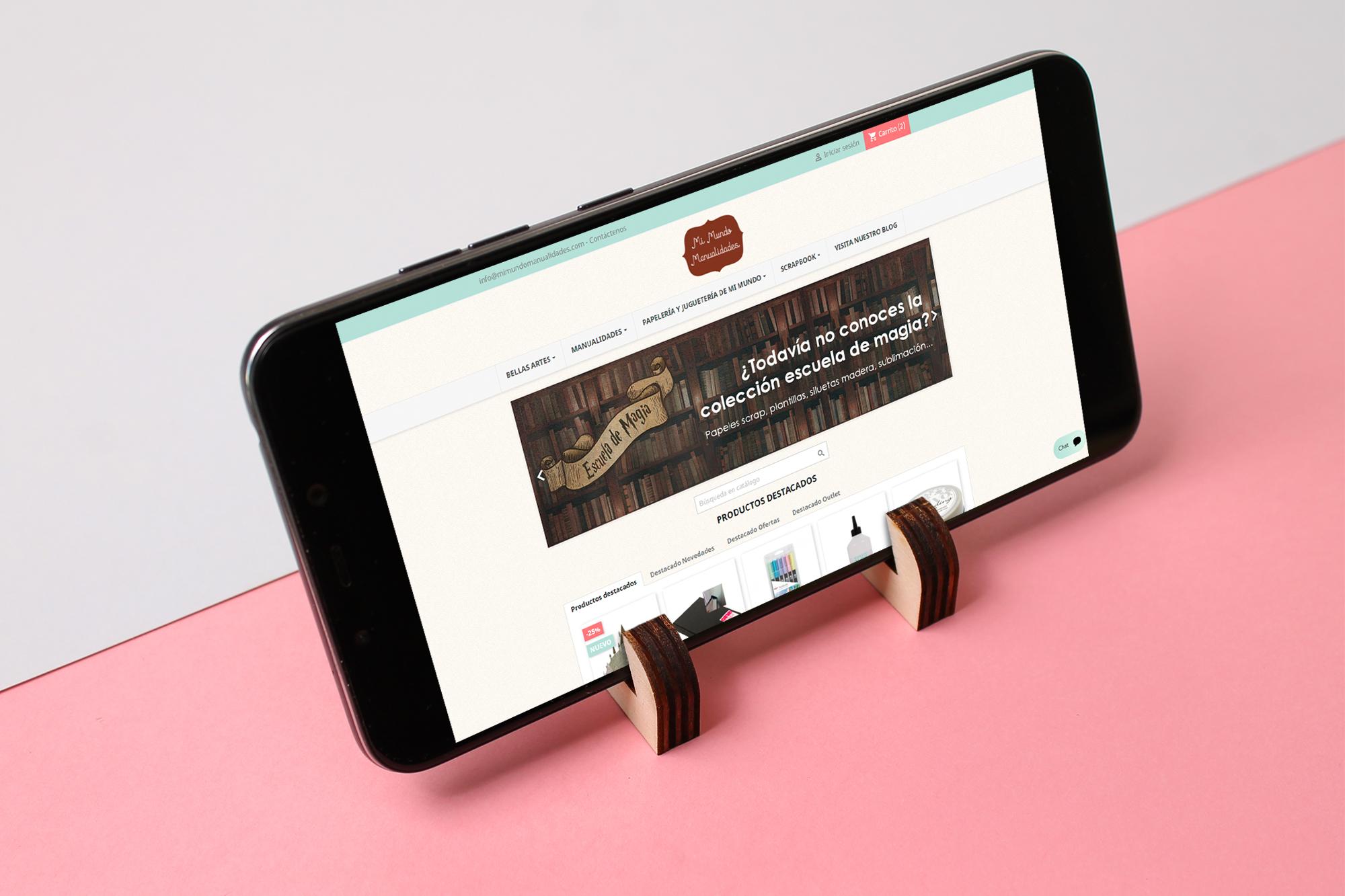 Soporte para el móvil para ver vídeos, webs, tutoriales