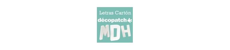 Letras cartón decopatch para tus proyectos de manualidades.