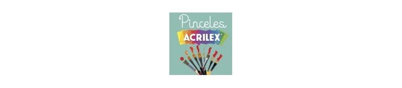 Pinceles Acrilex, para tus manualidades o dibujos de bellas artes.