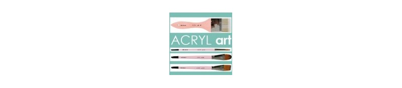 Pinceles serie Acryl Art de la marca artis decor.