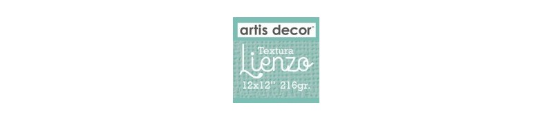 "Cartulina Textura Lienzo 12x12"" 216g"