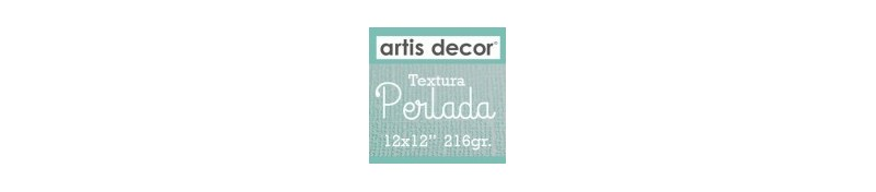 "Cartulina Textura Perlada 12x12"" 216g"