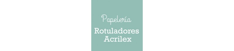 Rotuladores Acrilex