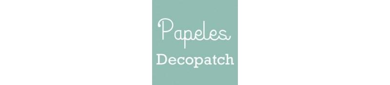 Papeles de la marca Decopatch, para decorar y forrar soportes.