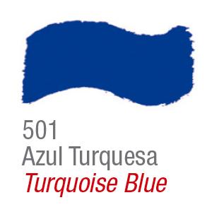 Pintura acrílica brillo Acrilex 501 azul turquesa