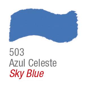 Pintura acrílica brillo Acrilex 503 azul celeste