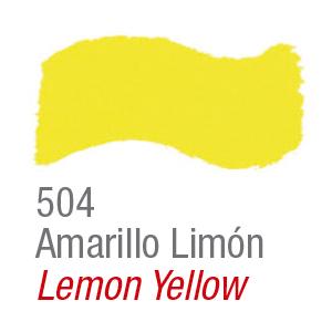 Pintura acrílica brillante Acrilex 504 amarillo limón