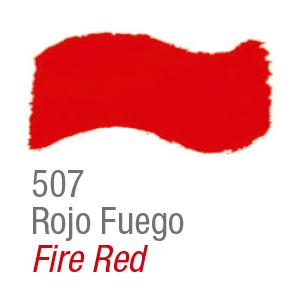 Pintura acrílica brillante Acrilex 507 rojo fuego