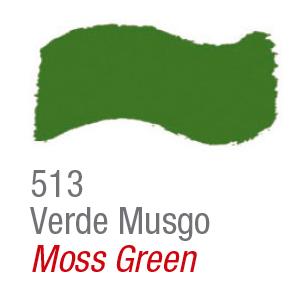 Pintura acrílica brillo Acrilex 513 verde musgo