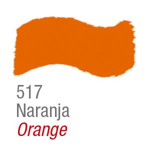 Pintura acrílica brillante Acrilex 517 naranja