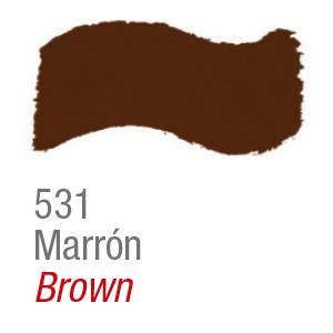 Pintura acrílica brillo Acrilex 531 marrón