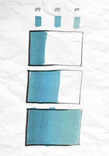 Degradado de color rotuladores